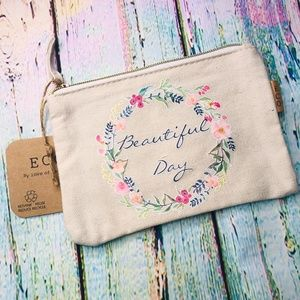 Beautiful Day ! Make Up Bag ECO Recycled Cotton
